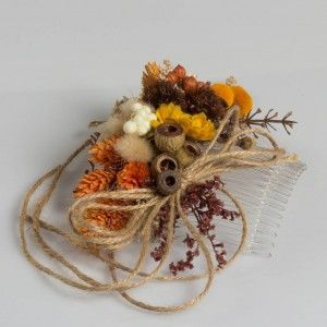Dry Flower Biçmeli Kozalak Natural Taç