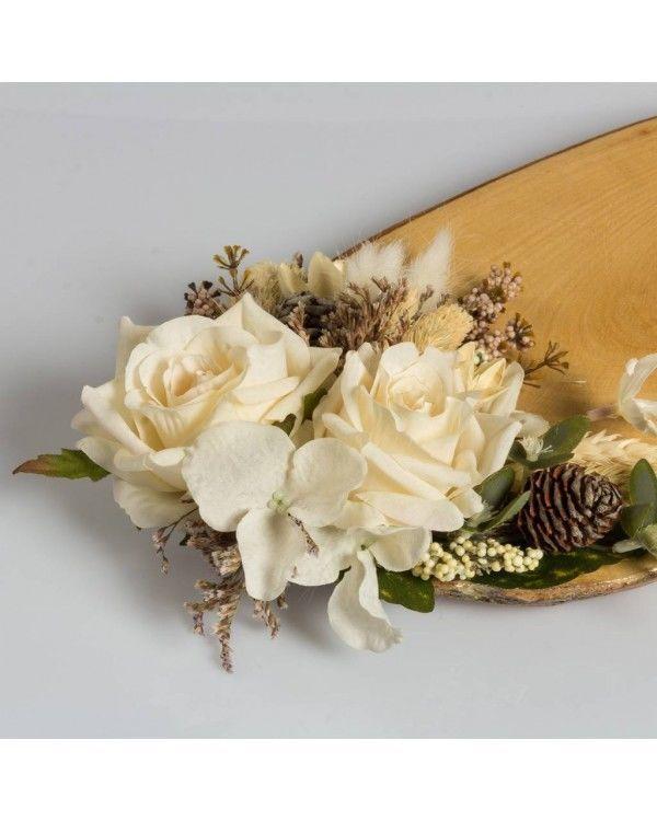 Söz & Nişan Tepsisi Kırık Beyaz Güller