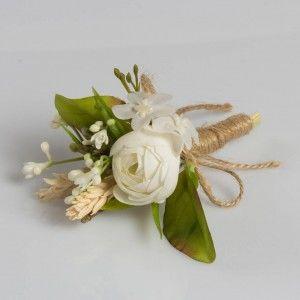 Kırık Beyaz Gül Yaka Çiçeği