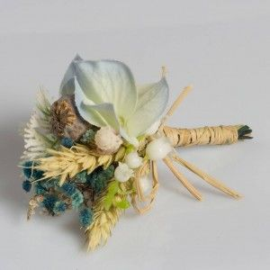 Mavi Gala Naturel Haşhaş Yaka Çiçeği