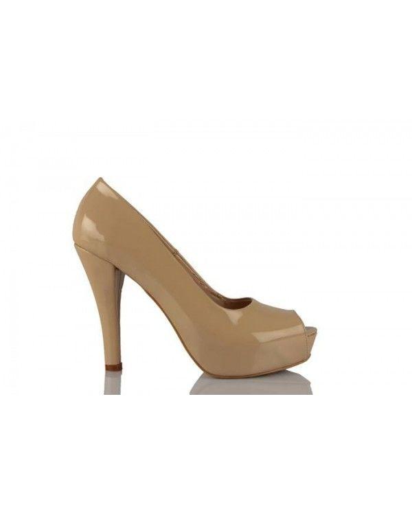 Vizon Rugan Topuklu Yazlık Ayakkabı