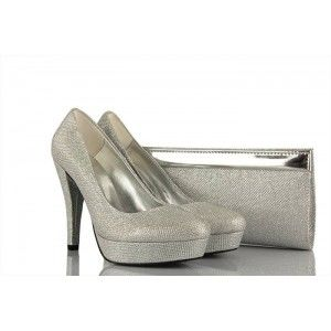 Abiye Topuklu Ayakkabı Simli Ve Portföy Modeller