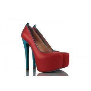Nar Çiçeği Renk Gizli Platform Bayan Ayakkabı