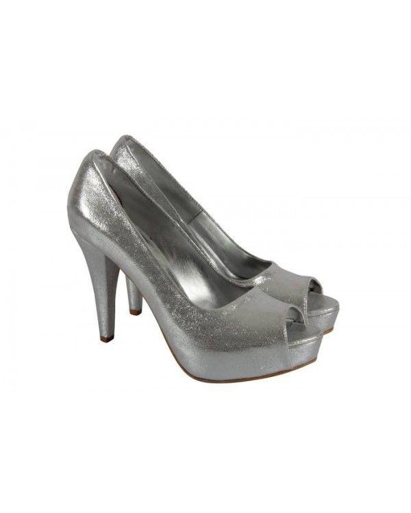 Lame Yaldızlı Platform Ayakkabı