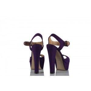 Platform Ayakkabı Mor Süet Model
