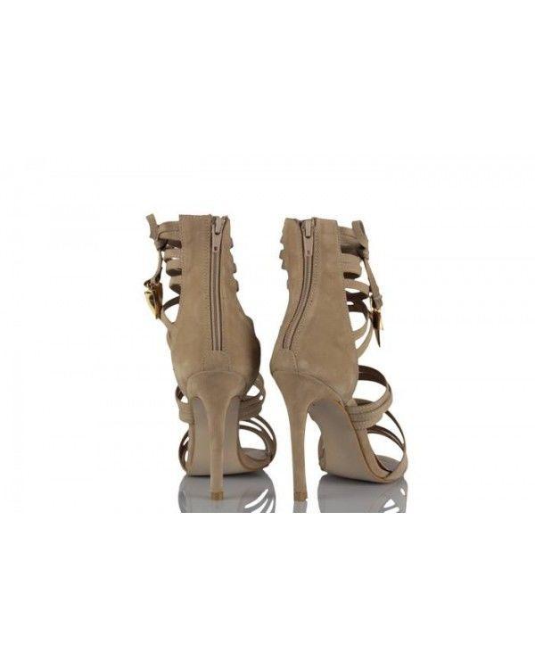 Topuklu Ayakkabı Bej Süet