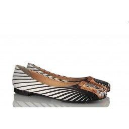 Zebra Desen Özel Tasarım Kadın Babet