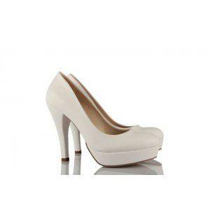 Beyaz Deri 17 Pont Gelinlik Ayakkabı