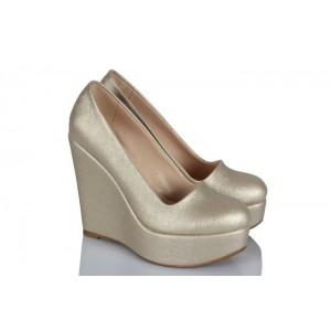 Açık Dore Dolgu Topuk Ayakkabı