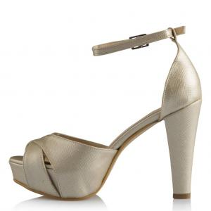 Açık Dore Platform Ayakkabı