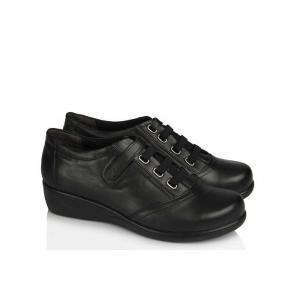 Ayakkabı Siyah Dolgu Topuk Hakiki Deri