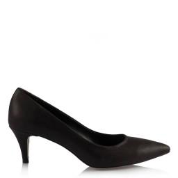 Az Topuklu Ayakkabı Siyah Yaldızlı Model