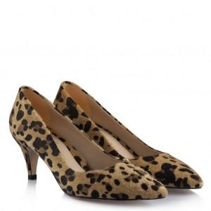 Az Topuklu Stiletto Ayakkabı Leopar