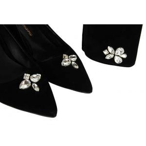 Az Topuklu Taşlı Siyah Stiletto Portföy