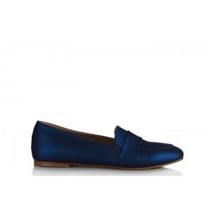 Babet Ayakkabı Düz Model Saks Mavi