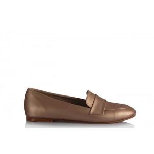 Babet Ayakkabı Düz Model Şampanya Rengi