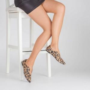 Babet Ayakkabı Leopar Sivri Burun