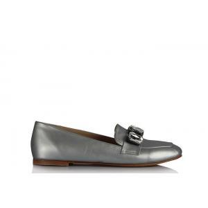 Babet Ayakkabı Modelleri Gri Taşlı