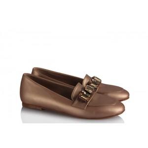 Babet Ayakkabı Modelleri Şampanya Rengi Taşlı