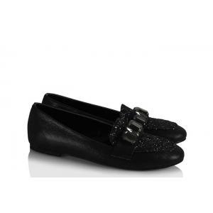 Babet Ayakkabı Modelleri Siyah Simli Taşlı