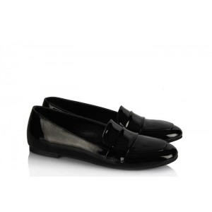 Babet Ayakkabı Siyah Rugan Model