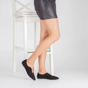 Babet Ayakkabı Siyah Süet Siyah Süet