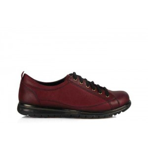 Bağcıklı Bayan Ayakkabı Bordo Renk