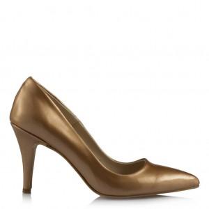 Bal Rengi Stiletto Ayakkabı