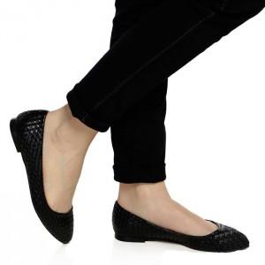 Bayan Babet Siyah Hasır Model