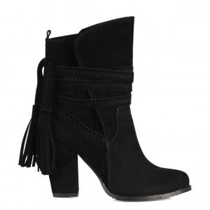 Bayan Topuklu Bot Siyah Renk