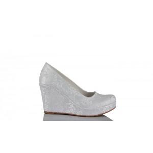 Beyaz Dantel 15 Pont Gelinlik Ayakkabısı