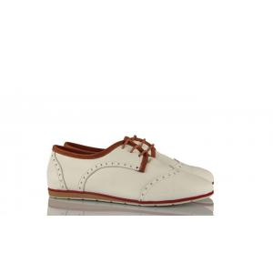Beyaz Deri Oxford Ayakkabı