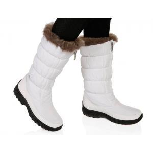 Beyaz İçi Yünlü Kar Çizmesi