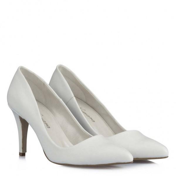 Beyaz Stiletto Gelin Ayakkabısı