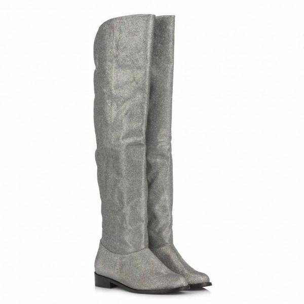 Binici Uzun Çizme Lame Simli