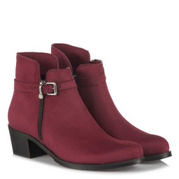 Claret Red Color Woman Boot Model