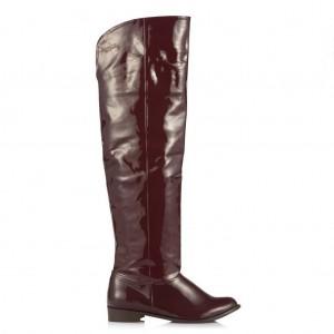 Bordo Rugan Dizüstü Binici Kadın Çizme