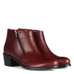 Big Size Woman Boot Claret Red Color