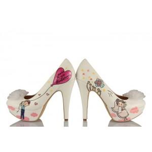 Çiçek Atan Gelin Tasarım Düğün Ayakkabısı