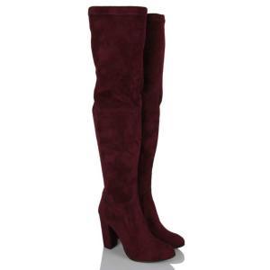 Çorap Çizme Bordo Süet