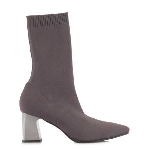 Çorap Topuklu Bot Gri Renk
