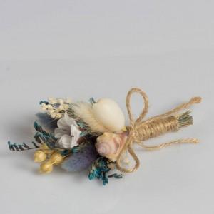 Deniz Kabuğu Tasarım Yaka Çiçeği
