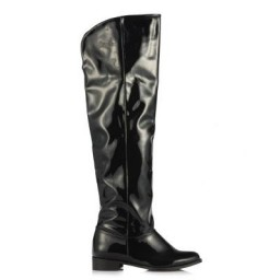 Dizüstü Binici Çizme Siyah Rugan