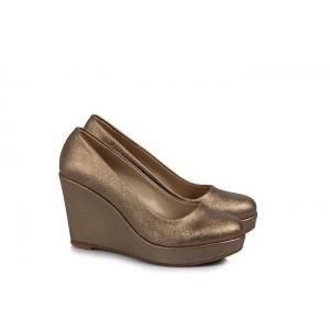 Dolgu Topuk Ayakkabı Vizon Rengi