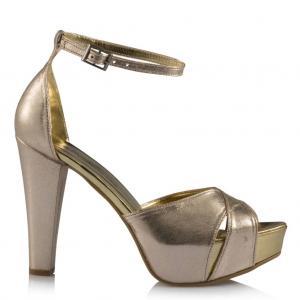 Dore Yaldızlı Platform Topuklu Ayakkabı