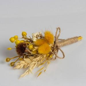 Dry Flower Biçmeli Kozalak Natural Yaka Çiçeği