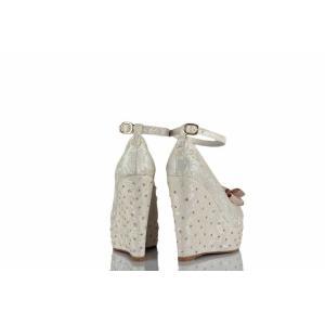 Düğün Ayakkabısı Fiyonklu Taşlı Tasarım