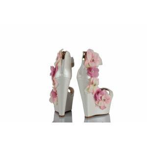Düğün Ayakkabısı Pembe Çiçekler