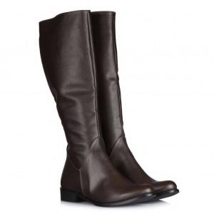Düz Çizme Kahverengi Çizme