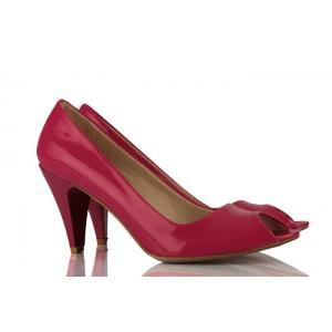 Fuşya Rugan Casual Topuklu Bayan Ayakkabı